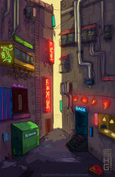 Hack Alley. by hybridgothica