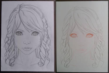 first sketch / final sketch by Togusa76
