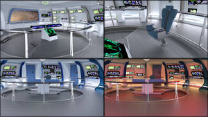 Work in Progress - Star Trek IV style bridge by JamesJAB