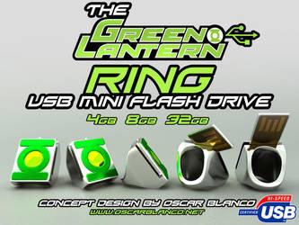 GREEN LANTERN Ring USB by otas32
