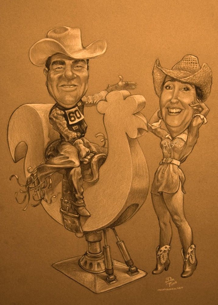 A couple's caricature. by otas32
