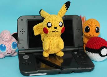 Crochet Pokemon Pikachu Amigurumi by MaryjoeCraft