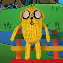 Crochet Jake the Dog Amigurumi, Adventure Time by MaryjoeCraft