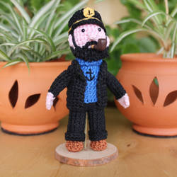 Crochet Captain Haddock Amigurumi, Tintin by MaryjoeCraft