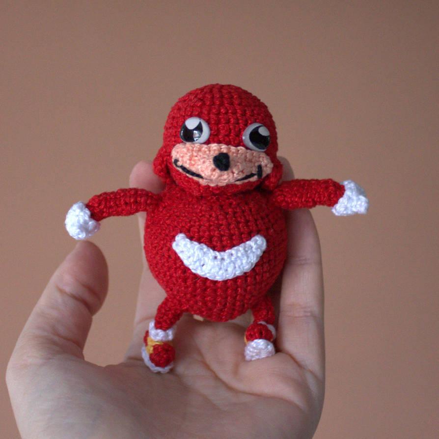 Ugandan Knuckles Handmade Crochet Amigurumi by MaryjoeCraft
