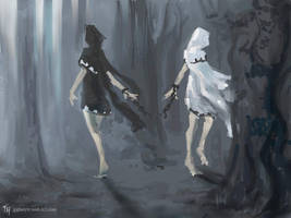 Diverging Paths: Speed Paint by Tekamza