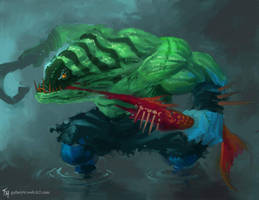 Tidehunter: Speed Paint by Tekamza