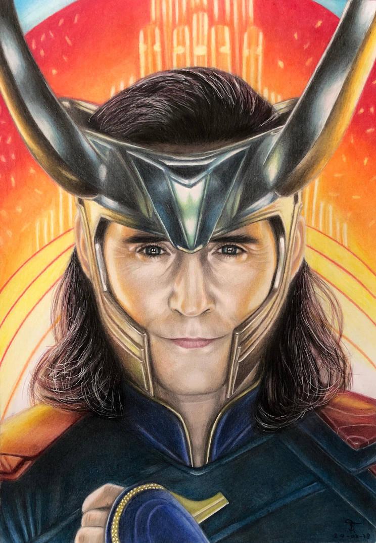 Loki - Thor Ragnarok by tanjadrawing