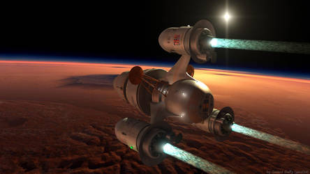 Pathfinder Over Mars by gmd3d