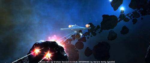 Enterprise Test Firing Phasers Banks (2) by gmd3d