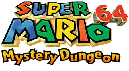Super Mario mystery dungeon 64 title screen by pokefan6498
