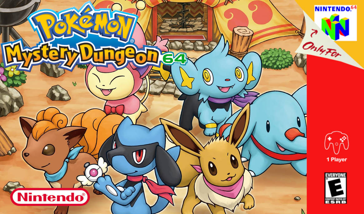 Pokemon mystery dungeon 64 boxart by pokefan6498