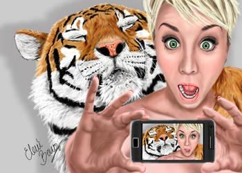 Kaley Cuoco taking a selfie!! by Sondim