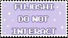 fujoshi do not interact - stamp by pastellene