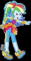 MLP EG Vector - Rainbow Dash  by ilaria122