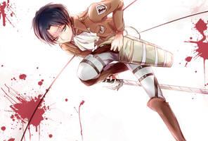 Shingeki no Kyoujin_Rivaille by noDuckiEallow