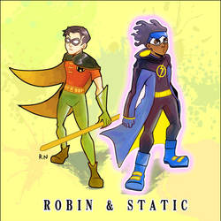 Static and Robin by Hikaru643 by aixiaolai