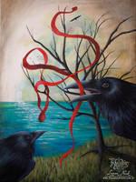 The Raven's Ribbon by TransientArt