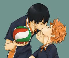 KageHina Kiss by SweetSugar18