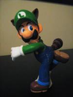 Raccoon Luigi Sculpture by BThomas64