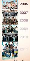 Super Junior Timeline by NileyJoyrus14