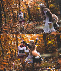 forest....hunting? - Shining hearts by yume-chan05
