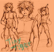 CRB: Tiny Tiger  Human Style by sanada-number09