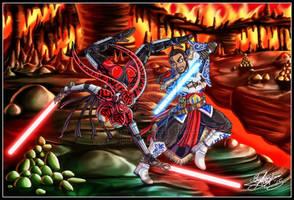 50K Kiriban Prize - Darth Talon vs Jedi Donald by MariposaBullet