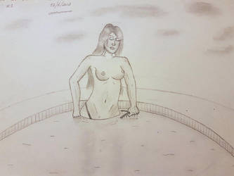 Spa girl - Female Drawing by NatCanDo