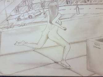Female Mid Run Pose. Full Complete Female Drawing. by NatCanDo