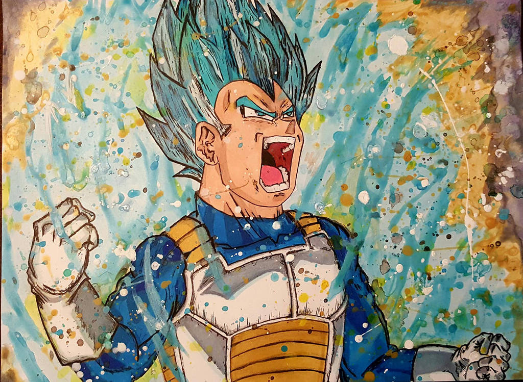 Vegeta Super Saiyan God Blue by Portal2Nowhere
