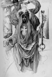 High Priestess by PaulMellender