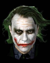 Joker (Heath Ledger) by PaulMellender