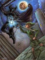 Link vs Phantom Ganon by yurionna
