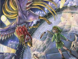 Link vs Helmaroc King by yurionna