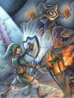 Link vs Jalhalla by yurionna