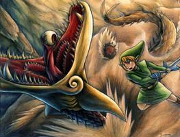Link vs Molgera by yurionna