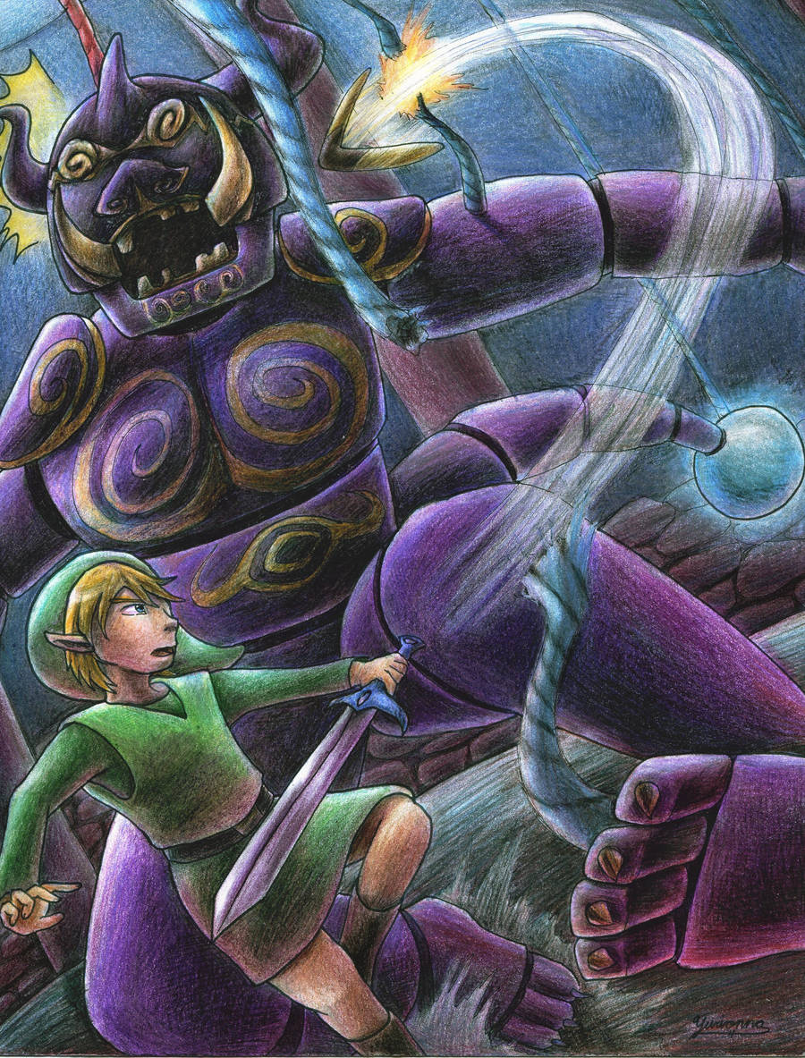 Link vs Puppet Ganon by yurionna