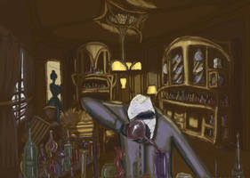 Invisible Man in laboratory by Meljona