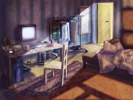 Bachelor room by Meljona