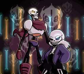 Undertales Paprus and Sans - GENOCIDE by ZalgoZ