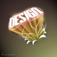 Design - 3D Logo - Photoshop by RaymondGD
