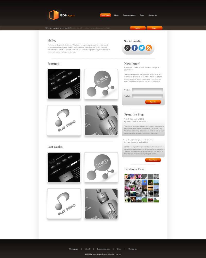 GDH - Clean Site by RaymondGD