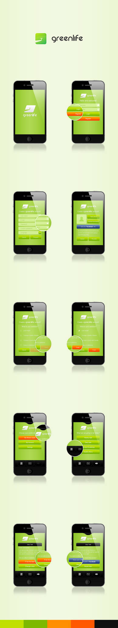 GreenLife Application design by RaymondGD