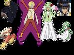 Existing Characters to pokemon Gijinka Challenge by mylittlesailorsonic8