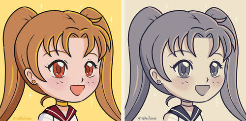 Sailor Sun - Retro Chibi Avatar by mishihime