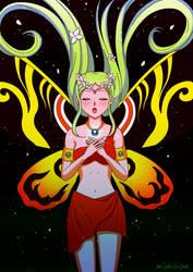 Mahou Shoujo Mothra (Kaiju Senshi) by mishihime