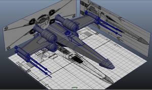 X-wing model by Dr-Destruction