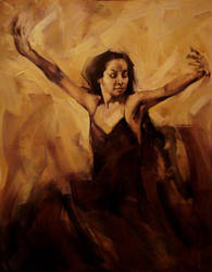 About dance, oil on canvas by SARA-AMBROZJA