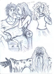 HP and the HBP sketches part 2 by cayxess